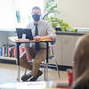 SUNY Buffalo State College alumnus, Colin Dabkowski teaching in Alden High School.