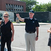 """""""Walk Out"""" for University Police Chief Pete Carey's retirement at SUNY Bufflalo State College."""