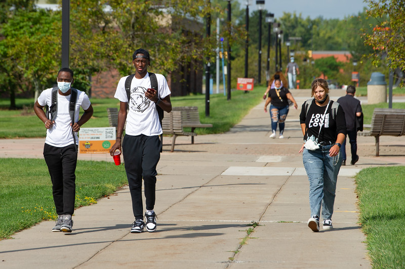 First day of classes at SUNY Buffalo State College.