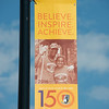 150th Anniversary street banners at SUNY Buffalo State College.