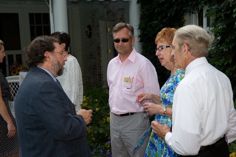 Peterson Society induction ceremony at Jim Brandys' home.
