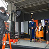 Commencement stage walk celebration at SUNY Buffalo State College.