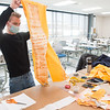 Fashion Technology senior student designers working on outfits for Runway Fashion Show at SUNY Buffalo State College.