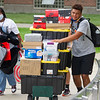 Student athletes helping students moving into residence halls at SUNY Buffalo State College.
