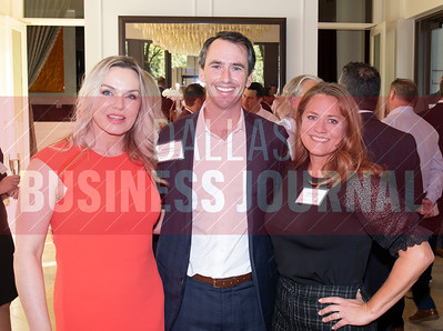 Robbie Baty, with Cushaman & Wakefield, center with Julie Bosche, left and Angela Odie, right with Bank of Texas.