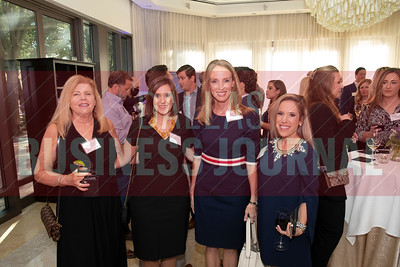Marianne Neville and Shelby Benton with the Dallas Business Journal and Mandy Austin, Bank of Texas and Elyse Munger with Cushman & Wakefield.