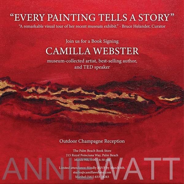 A_01 Camilla Webster Book signing Inviation