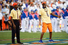 Leonard George and Willie Jackson Sr. perform as Mr. Two Bits as the Florida Gators open the 2021 season with a 35-14 win over the Florida Atlantic University Owls at Ben Hill Griffin Stadium in Gainesville, Florida on September 4th, 2021. (Photo by David Bowie/Gatorcountry)