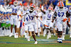 Florida Gators cornerback Patrick Moorer #37 sprints onto the field as the Florida Gators open the 2021 season with a 35-14 win over the Florida Atlantic University Owls at Ben Hill Griffin Stadium in Gainesville, Florida on September 4th, 2021. (Photo by David Bowie/Gatorcountry)