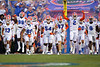 The Florida Gators sprint onto the field as the Florida Gators open the 2021 season with a 35-14 win over the Florida Atlantic University Owls at Ben Hill Griffin Stadium in Gainesville, Florida on September 4th, 2021. (Photo by David Bowie/Gatorcountry)