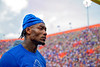 Florida Gators wide receiver Jacob Copeland #1 as the Florida Gators fall just short with a 31-29 loss to the #1 Alabama Crimson Tide at Ben Hill Griffin Stadium in Gainesville, Florida on September 18th, 2021. (Photo by David Bowie/Gatorcountry)