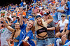 Gator fans cheer on as the Florida Gators fall just short with a 31-29 loss to the #1 Alabama Crimson Tide at Ben Hill Griffin Stadium in Gainesville, Florida on September 18th, 2021. (Photo by David Bowie/Gatorcountry)