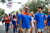 The Florida Gators walk into Ben Hill Griffin Stadium during Gator Walk, as the Gators prepare to take on the Tennessee Volunteers in Gainesville, Florida on September 25th, 2021. (Photo by David Bowie/Gatorcountry)