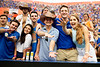 Florida Gators fans cheer on as the Florida Gators defeat SEC rival, the Tennessee Volunteers, 38-14 at Ben Hill Griffin Stadium in Gainesville, Florida on September 26th, 2021. (Photo by David Bowie/Gatorcountry)
