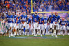 The Florida Gators sprint onto the field during pregame as the Florida Gators defeat SEC rival, the Tennessee Volunteers, 38-14 at Ben Hill Griffin Stadium in Gainesville, Florida on September 26th, 2021. (Photo by David Bowie/Gatorcountry)