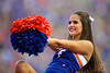 The Florida Gators cheerleaders cheer on as the Florida Gators defeat SEC rival, the Tennessee Volunteers, 38-14 at Ben Hill Griffin Stadium in Gainesville, Florida on September 26th, 2021. (Photo by David Bowie/Gatorcountry)