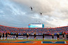 Two helicopters flyover the stadium during pregame as the Florida Gators defeat SEC rival, the Tennessee Volunteers, 38-14 at Ben Hill Griffin Stadium in Gainesville, Florida on September 26th, 2021. (Photo by David Bowie/Gatorcountry)