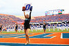 The Florida Gators Dazzlers cheer on during pregame as the Florida Gators defeat SEC rival, the Tennessee Volunteers, 38-14 at Ben Hill Griffin Stadium in Gainesville, Florida on September 26th, 2021. (Photo by David Bowie/Gatorcountry)
