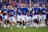 Florida Gators wide receiver Jacob Copeland #1 runs onto the field for the start of the game as the Florida Gators defeat SEC rival, the Tennessee Volunteers, 38-14 at Ben Hill Griffin Stadium in Gainesville, Florida on September 26th, 2021. (Photo by David Bowie/Gatorcountry)