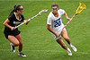 Florida Gators lacrosse attacker Brianna Harris sprints toward the goal. shoots and scores as the #10 ranked Gators defeat the #20 ranked Vanderbilt Commodores 22-9 at Donald R. Dizney Stadium in Gainesville, Florida on April 18th, 2021 (Photo by David Bowie/Gatorcountry)