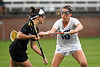 Florida Gators lacrosse midfielder Danielle Pavinelli defending as the #10 ranked Gators defeat the #20 ranked Vanderbilt Commodores 22-9 at Donald R. Dizney Stadium in Gainesville, Florida on April 18th, 2021 (Photo by David Bowie/Gatorcountry)