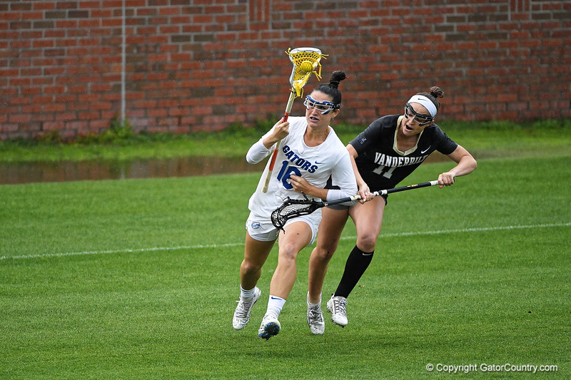 Florida Gators lacrosse defender Cara Trombetta as the #10 ranked Gators defeat the #20 ranked Vanderbilt Commodores 22-9 at Donald R. Dizney Stadium in Gainesville, Florida on April 18th, 2021 (Photo by David Bowie/Gatorcountry)