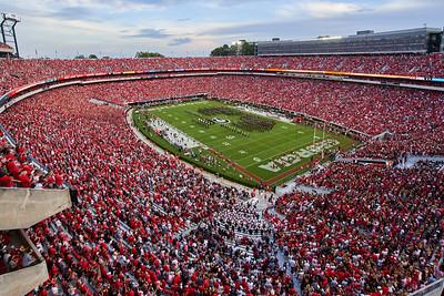 Sanford Stadium UGA Bulldogs Redcoat Band - Athens GA