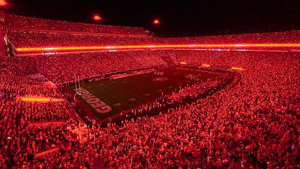 Sanford Stadium UGA Bulldogs Red Out - Athens GA