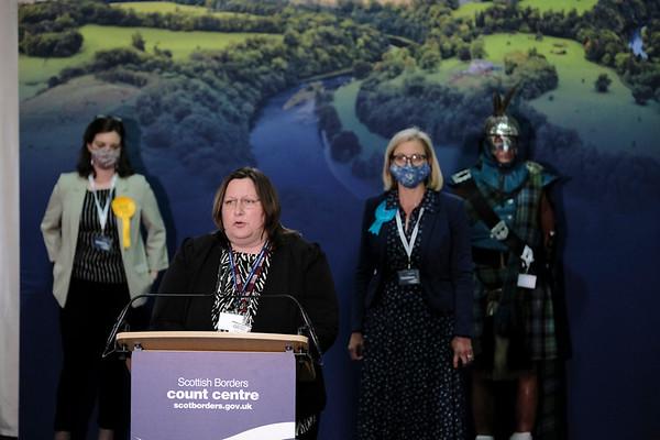 Scottish Parliament Election 2021 - Declaration, Kelso, UK.
