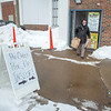 210220 Winter Markets 5<br /> (James Neiss/staff photographer)<br /> Lockport, NY - John Emmo of Lockport heads out after picking up his order at the Lockport Community Farmers Market on Saturday. The market features pre-order pick up. The market is located at the South East corner of the Harrison Place building.