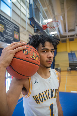210407  Jalen Bradberry 2 James Neiss/staff photographer  Niagara Falls, NY - Jalen Bradberry of Niagara Falls is the newspapers boys basketball player of the year.
