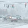 210126 NF Winter Storm<br /> (James Neiss/staff photographer)<br /> Town of Niagara, NY - It was near whiteout conditions at the intersection of Military and Porter Roads during the snowstorm on Tuesday.