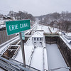 210126 Winter Storm 1<br /> (James Neiss/staff photographer)<br /> Lockport, NY - A break in the winter storm shows off the Erie Canal in a fresh coat of snow.