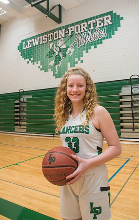 210406 Sophie Auer 2<br /> James Neiss/staff photographer <br /> Lewiston, NY - Lew-Port standout and NFL player of the year Sophie Auer, the GNN Sports girls basketball POY.
