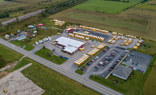210920 School Bus Enterprise James Neiss/staff photographer  Lockport, NY - Ridge Road Express bus lot at 5355 Junction Road in Lockport.