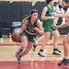 210223 LP at NW Girls 3<br /> (James Neiss/staff photographer)<br /> Wheatfield, NY - Lewiston-Porters' #25 Tessa Schuey moves the ball during game action against Niagara Wheatfield.