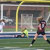 211014 Girls Soccer 2<br /> James Neiss/staff photographer <br /> North Tonawanda, NY - Grand Island soccer player #11 Avery Mondoux scores the first goal against Niagara-Wheatfield.