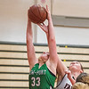 210223 LP at NW Girls 2<br /> (James Neiss/staff photographer)<br /> Wheatfield, NY - Lewiston-Porters' #33 Sophie Auer gets the rebound during game action against Niagara Wheatfield.