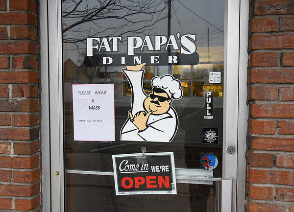210112 Fat Papa's 3<br /> James Neiss/staff photographer <br /> Wilson, NY - Glen Judd has been working two additional jobs along with his job in the kitchen. He and his wife have been looking for grants to keep his restaurant open, but they haven't been lucky in finding one.
