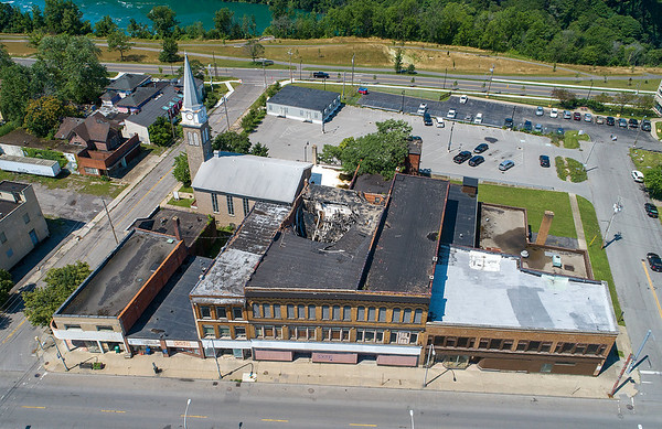 210721 Main Street 3<br /> James Neiss/staff photographer <br /> Niagara Falls, NY - Some buildings on Main Street may take a little more TLC than others to renovate. A lot of community members, government agencies and private investors are involved in reimagining the main street bridge district.