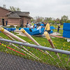 210503 LKPT Track 2<br /> James Neiss/staff photographer <br /> Lockport, NY - Pole vaulters set up their gear on the first day of Lockport High School track practice.
