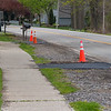 210504 Paving Complaints<br /> James Neiss/staff photographer <br /> Lewiston, NY - Driveways impacted by the Lower River Road water line construction were paved as the line work was completed. Some residents are complaining. Here, are two driveways in the 4600 block that were paved.
