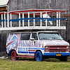 210112 Bills Fans 2<br /> James Neiss/staff photographer <br /> Newfane, NY - Oldie but Goodie - She might have a few years on her but this classic chevy is sporting the right colors at this home in Newfane, no doubt waiting for tailgating days to return.