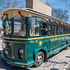 210426 NF Tourism 3 <br /> James Neiss/staff photographer <br /> Niagara Falls, NY - You can get around to see all there is to see at Niagara Falls State Park by riding the park trolly.