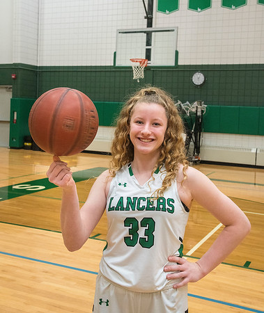 210406 Sophie Auer 1<br /> James Neiss/staff photographer <br /> Lewiston, NY - Lew-Port standout and NFL player of the year Sophie Auer, the GNN Sports girls basketball POY.
