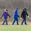 210122 LKPT Enterprise<br /> (James Neiss/staff photographer)<br /> Lockport, NY - A trio of walkers battled the cold winter day with a brisk walk at Day Road Park.