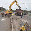 211006 NF Enterprise<br /> James Neiss/staff photographer <br /> Niagara Falls, NY - Work crews continue to remove the center median green space on Niagara Street in the 500 block.