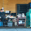 210423 Enterprise 6<br /> James Neiss/staff photographer <br /> Burt, NY - Office With A View - Brian Jerz of Page-Turners, a bulk book seller on Amazon,  threw the garage door wide open on a beautiful spring afternoon as he prepares books for sale.