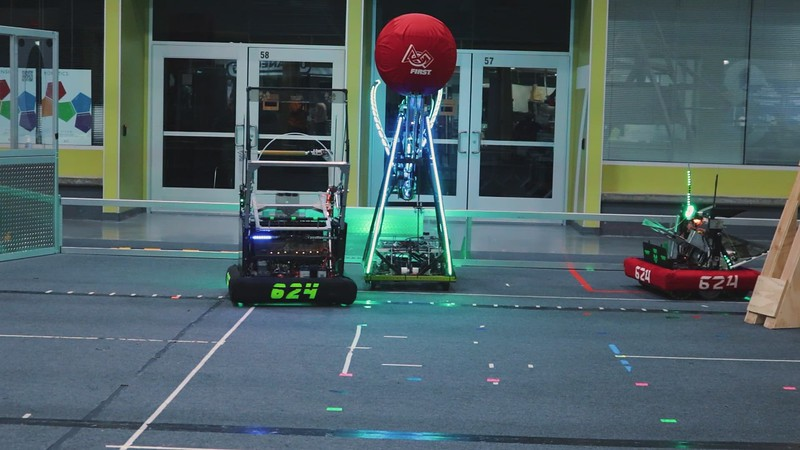 Robots from 2008, 2013, and 2014 team up to create the shot.