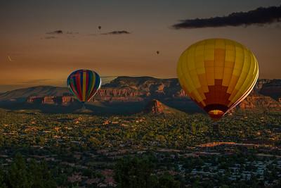 DA040,DA,Composite_of_Colorado_Balloons_San_Diego_Sunset_Sedona_Skyline